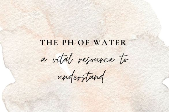 The pH of water natural dye